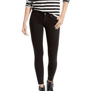 Levi's 711 Skinny Black Denim Jeans